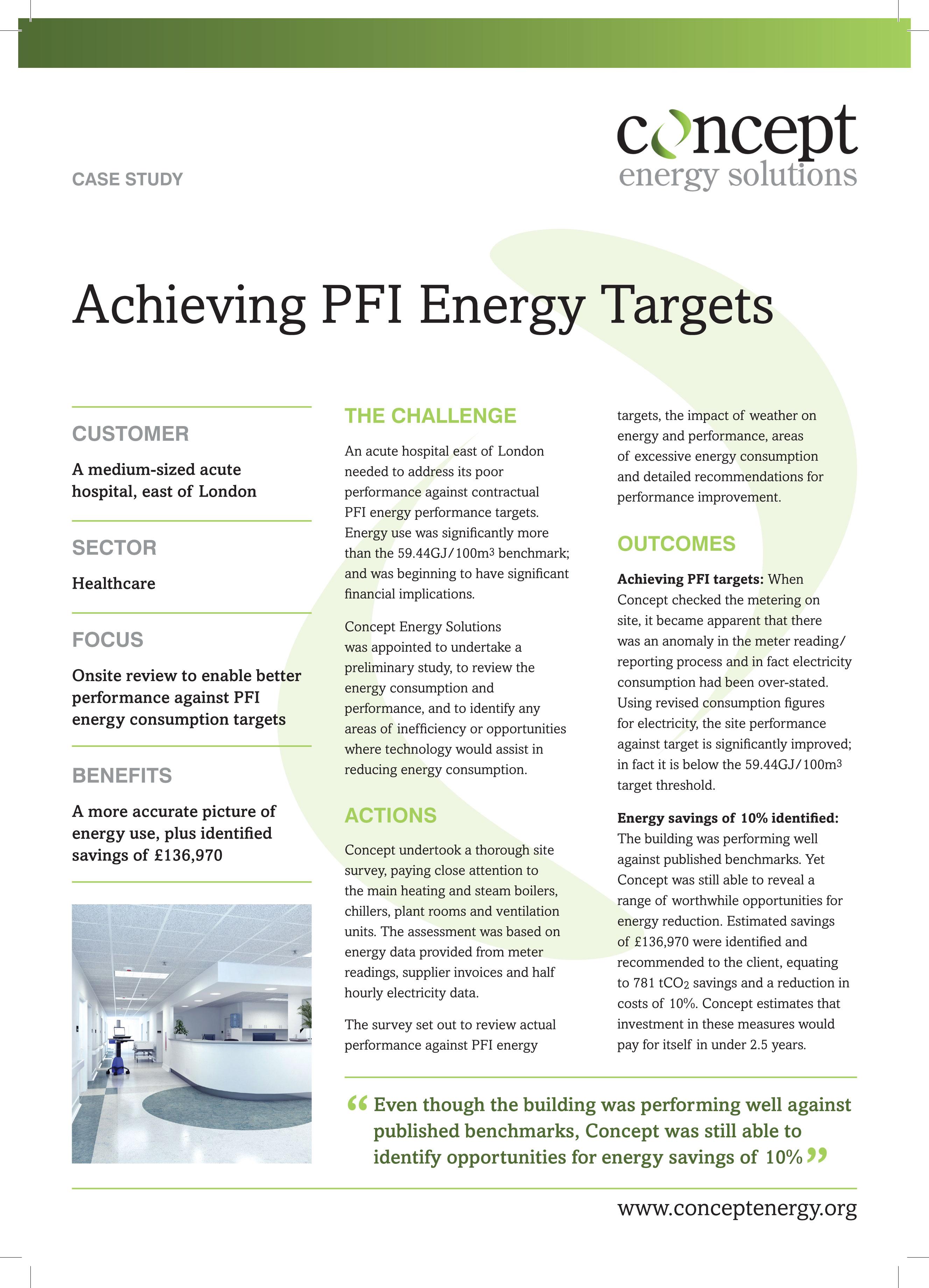 PFI Performance Monitoring | Healthcare | Concept Energy